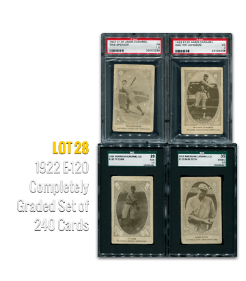 1922 E-120 Completely Graded Set of 240 Cards