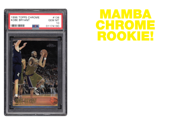 LOT 112 1996 Topps #38 Kobe Bryant Chrome Rookie PSA 10 Gem MINT
