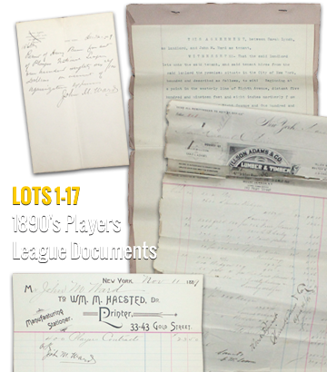 1890's Players League Documents