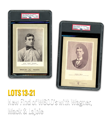 1909 T206 Near Complete GradNew Find of W600's with Wagner, Mack & Lajoieed Set