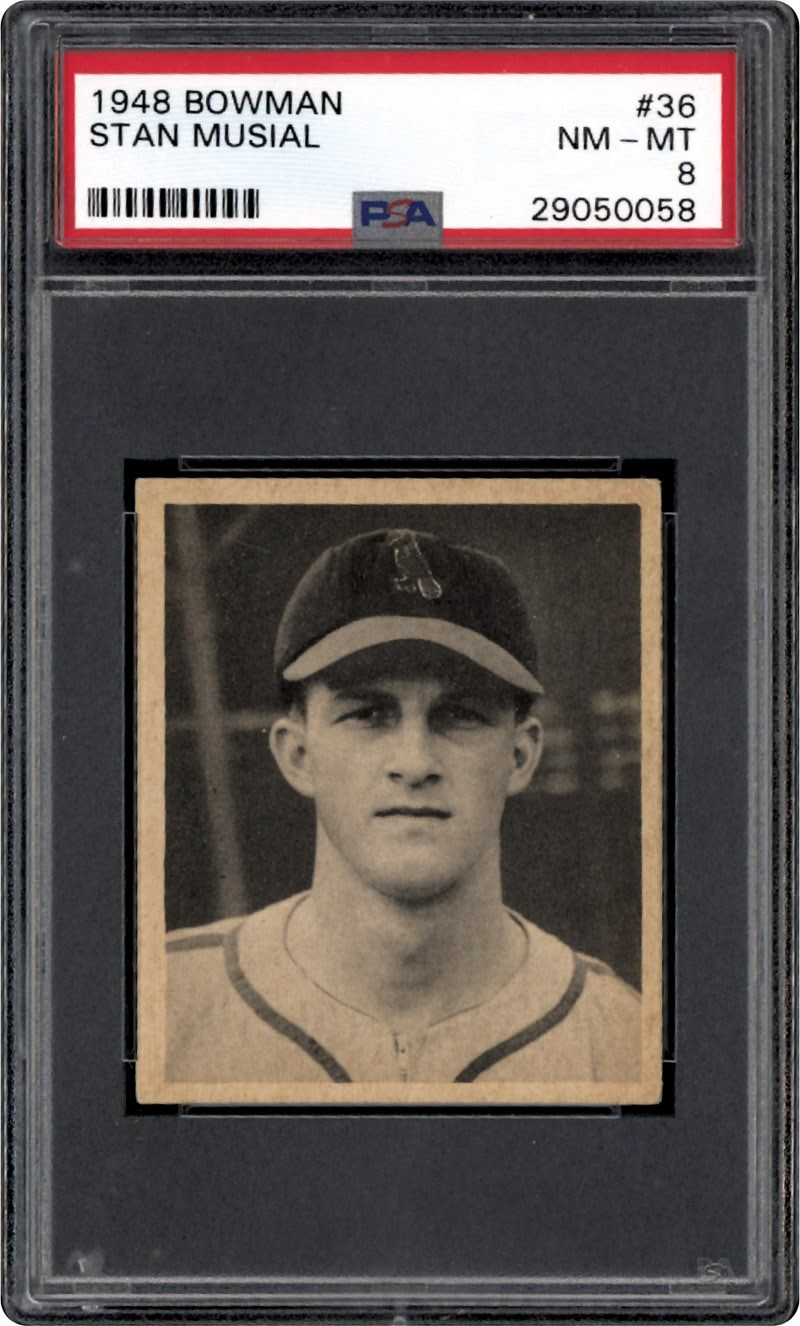1948 Bowman 36 Stan Musial Rookie Psa 8 Nm Mt