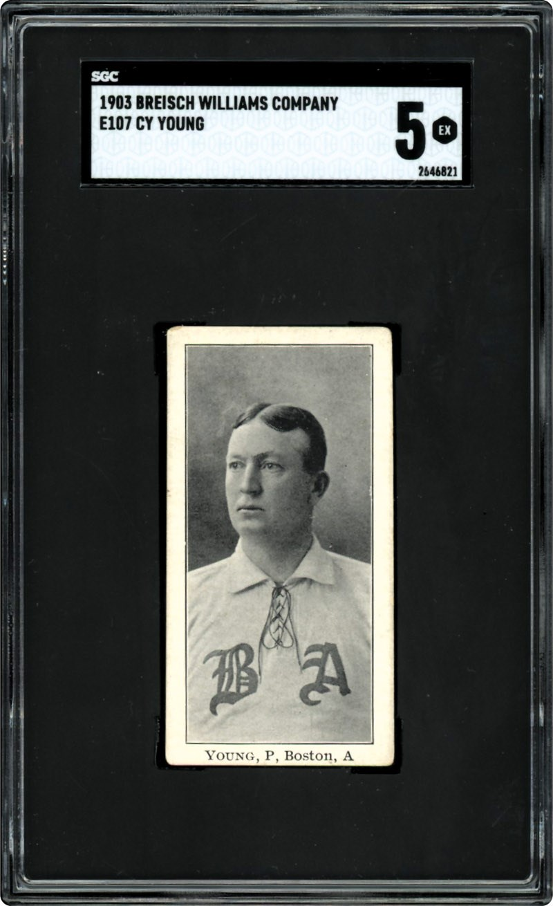 Amazing 1903 E107 Breisch Williams Cy Young