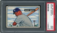 1951 Bowman Mickey Mantle Rookie PSA 9