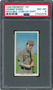 1909 T206 Johnny Evers With Bat Cubs on Shirt PSA 8