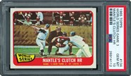 1965 Topps Mantle's Clutch Homer PSA 10