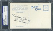 1930's Lou Gehrig Auto Postcard PSA 10