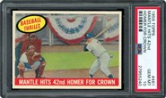 1959 Topps #461 Mantle Hits 42nd PSA 10