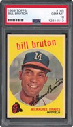 1959 Topps #165 Bill Bruton PSA 10
