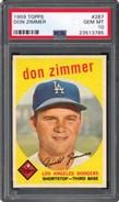 1959 Topps #187 Don Zimmer PSA 10