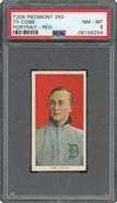 1909 T206 Ty Cobb Red Portrait Piedmont PSA 8