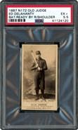1889 Old Judge N172 Ed Delahanty Rookie PSA 5.5
