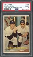1957 Topps #407 Yankees Power Hitters PSA 9