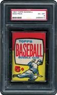 1957 Topps Baseball Wax Pack PSA 6