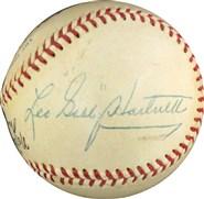 Gabby Hartnett Single Signed Baseball