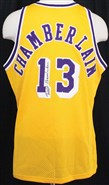 Wilt Chamberlain Autographed Jersey