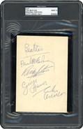 Beatles Signed Index Card PSA/DNA