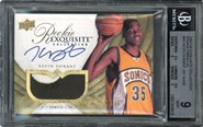 2007-08 Exquisite #94 Kevin Durant Rookie BGS 9