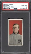 1909 T206 Ty Cobb Red Old Mill Reverse PSA 8