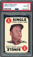 1968 Topps Game #2 Mickey Mantle PSA 10