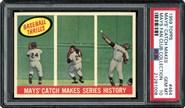 1959 Topps #464 Mays Catch PSA 10
