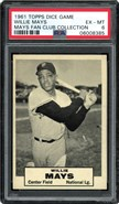 1961 Topps Dice Game Willie Mays PSA 6