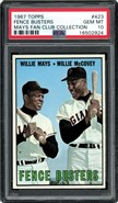 1967 Topps #423 Fence Busters PSA 10