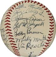 1951 NY Yankees Team Signed Baseball PSA/DNA
