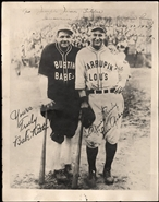 Babe Ruth & Lou Gehrig Barnstorming Dual Auto Photo PSA/DNA