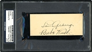 Babe Ruth & Lou Gehrig Dual Signed Postcard PSA/DNA