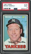 1967 Topps Mickey Mantle PSA 9 MINT
