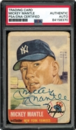 1953 Topps Mickey Mantle Auto Card PSA/DNA