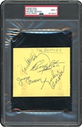 The Beatles Signed Cut PSA/DNA
