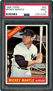 1966 Topps #50 Mickey Mantle PSA 9