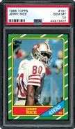 1986 Topps #161 Jerry Rice Rookie PSA 10