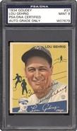 1934 Goudey Lou Gehrig Autographed PSA 9 MINT