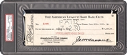 1930 Babe Ruth Payroll Check PSA Authentic