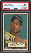 1952 Topps Mickey Mantle Altered PSA