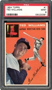 1954 Topps #1 Ted Williams PSA 9 MINT