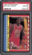 1987 Fleer Sticker Michael Jordan PSA 10 GEM MINT