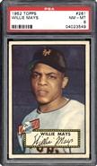 1952 Topps Willie Mays PSA 8 NM-MT